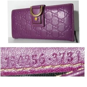 RESERVED!Auth Gucci Guccissima Long Leather Wallet